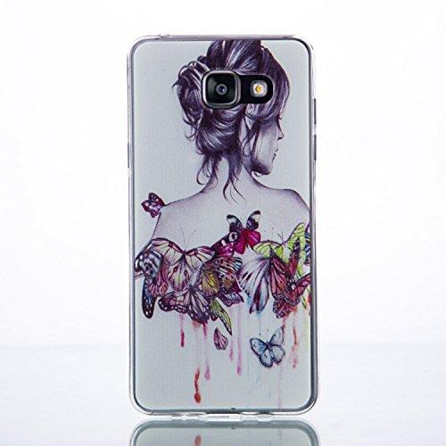 Galaxy A7 (2016) Hülle, SainCat Silikon Hülle Tasche Handyhülle [Kratzfeste, Scratch-Resistant] TPU Gel Bumper Case Weiches Transparentes Silikon Schutzhülle Crystal Kirstall Clear Case Durchsichtig M Winde