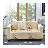 WUFANGFF Slipcover Blumenmuster Stretch Sofa Chemiefasergewebe Schonbezug Couch Covers Sofa Furniture Protector, 4Seat