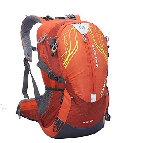 Wmshpeds Borsa di alpinismo 40L borsa a tracolla la staffa esterna arrampicata zaino borsa a tracolla impermeabile sportiva zaino C