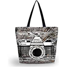 ZXXFR Máquina De Coser De Mujeres Suave Niñas Zip Shopping Bag Tote Gran Bolsa De Hombro