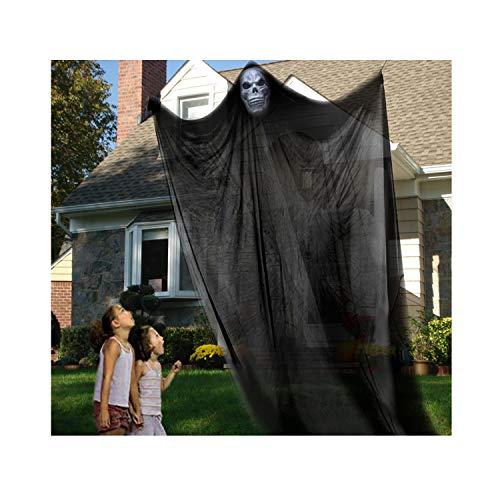 ister-Requisite, Gruseldekor, Halloween, Skelett, Geister, Totenkopf, Dekoration für draußen, draußen, Bar, Party, Hintergrunddekoration 7F-T schwarz ()