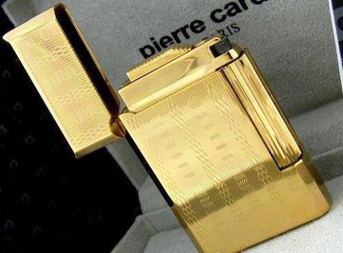 PC2 Pierre Cardin Paris Luxus Feuerzeug sehr edel in Gold