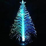 Delaman Mini 7 Wechselfarben Leuchtender Weihnachtsbaum Lampe Nachtlicht für Weihnachten Deko, 13cm