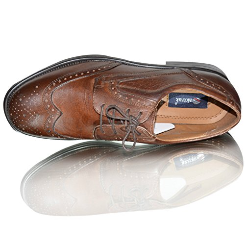 oaktrak pinham schwarz, braun oder castagnia Leder Brogues Oxford Works Herren Schuhe braun Brogue