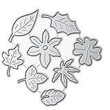 Rrimin Leaf Combination Craft Decorative Paper Art Embossing Cutting Die (No.13)