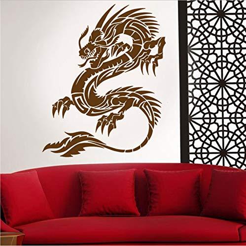 WFYY Chinesische Tribal Car Dragon Hood Vinyl Aufkleber Side Decor Fantasie Aufkleber, Auto Auto Fenster Vinyl Aufkleber Aufkleber 42X52 cm