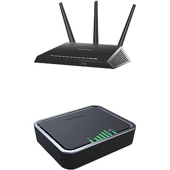 Netgear Nighthawk R7000-100PES - Router Gaming con tecnología WiFi AC1900 + Netgear LB2120-