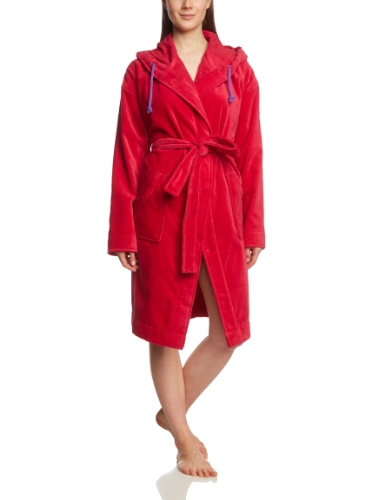 PUMA Damen Bademantel Foundation Bathrobe Barberry, L