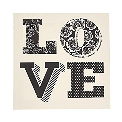 Claire's Girls and Womens Love Wall Canvas in Black/White
