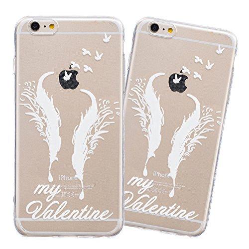 iPhone 6 Plus Hülle, E-Lush Beliebte Indische Sonne Muster für Apple iPhone 6/6S Plus (5.5 zoll) Telefonkasten TPU Silikon Rand Acryl Rückseite Abdeckung Handyhülle Clear Transparent Schutzhülle Weich My Valentine
