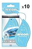 AREON Mon Ambientador Coche Colgante Sueño de Verano Tropical Olor Azul Colgar Perfume Original Cartón Retrovisor Casa Oficina 2D (Summer Dream Pack de 10)