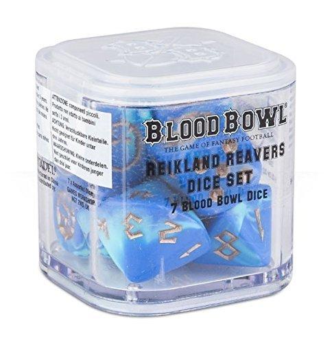Blood Bowl The Game of Fantasy Football Reikland Reavers Würfel Set (7 Blood Bowl Würfel)