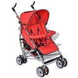 vidaXL Baby Reise-Kinderwagen Buggy Jogger 5 Liegepositionen Klappbar Rot