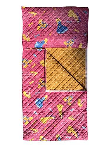 Schlafsack Kindergarten für Kinder und Mädchen - Prinzessinnen Fuxia - von 2 bis 6 Jahren - gesteppter Stoff 100% Baumwolle - Made in Italy (Prinzessin Schlafsack)