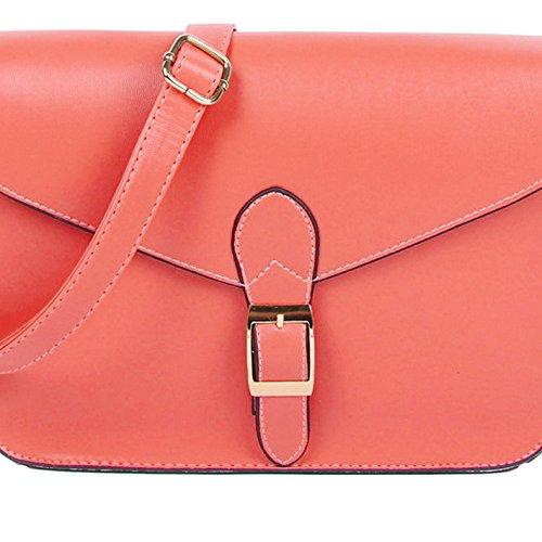 TOOGOO(R) Cartella di alta qualita del sacchetto di spalla del sacchetto di busta dellannata di stile del sacchetto del messaggero delle donne giallo Anguria rossa