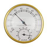 (Sauna sala Golden Metal Shell hyprometer termómetro THERMO-HYGROMETER
