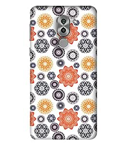 Fabcase micro floral arts seamless snowflake design Designer Back Case Cover for Huawei Honor 6X