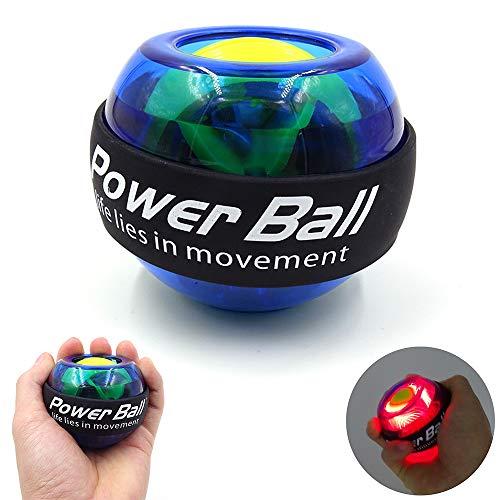 ZN Entrenador De Muñeca Y Brazo, LED Muscle Power Ball Entrenador De Bola De Muñeca Relax Gyroscope...