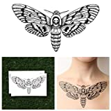 Tattify Detailed Moth Temporary Tattoo - Changeling (Set of 2)