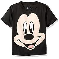 Disney Little Boys' Mickey Mouse Face T-Shirt, Black, 4