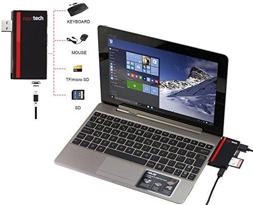 Navitech 5-in-1 USB Hub, mit 3 Superspeed 5Gbps USB 3.0 Ports, 2 SD / TF Kartenleser Ports Kabel designt für VERICO UniBook 11,6