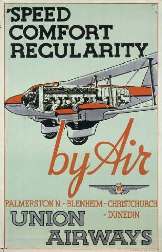 poster-a3-new-zealand-commercial-airlines-become-successful-late-1930s-union-airways-ltd-speed-comfo