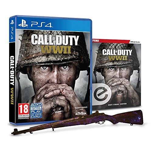 Call of Duty®: WWII + Animated Zombies Weapon Camo + Zombies Prima Strategy Guide (Exclusive to Amazon.co.uk) (PS4)