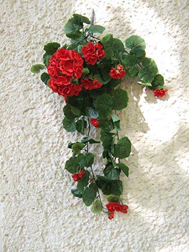 Preisvergleich Produktbild Künstliche Geranienranke rote Blüten ,  ca. 60cm
