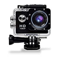 GBB Ultra Sport Action Camcorder HD 1080P Waterproof Camera 12MP Digital Camera with 170 Degree Wide View Angle Mic/Speaker/Motion Detection with 2 Battery & Free Fitting Kits (Black)