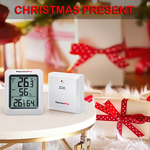 Thermopro TP60 Funk Thermo Hygrometer, Klima-Monitor mit Funk-Außensensor - 2