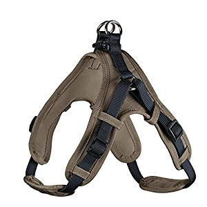 HUNTER Harness Neoprene Vario Quick L 67-80 cm, 25 mm Nylon navy/Neoprene walnut
