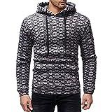 Kapuzenpullover Herren,❤️Binggong Herren Lässige Farbe Blockstreifen Herbst Winter Pullover Top Bluse Sweatshirt
