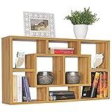 FineBuy Wandregal Andy 85 x 47,5 x 16 cm MDF-Holz Hängeregal modern | Design Wandboard freischwebend | Holzregal offen zum Hängen