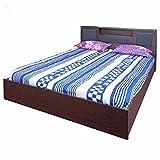 #10: Zuari Bogoto King Size Bed with Storage (Honey Finish, Brown)