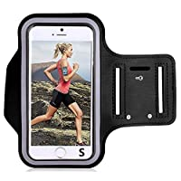 LUCKLYSTAR Running Armband Phone Holder, Sport Armbands for iPhone 5/5C/5S/SE/4/4S, Adapt to Less Than 4