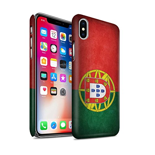 STUFF4 Matte Snap-On Hülle / Case für Apple iPhone X/10 / Australien/australisch Muster / Flagge Kollektion Portugal/Portugiesische