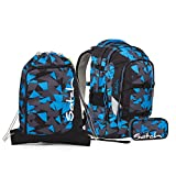 Satch Pack Blue Triangle Schulrucksack Set 3tlg.