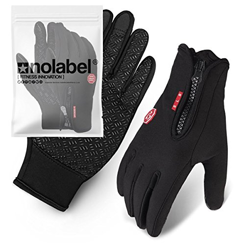 Touchscreen Handschuhe für Männer und Frauen - Unisex-Thermo-Handschuh für Smartphone SMS mit rutschfestem Silikon-Gel - Touchscreen-Handschuhe Handwärmer - winddicht und wasserabweisend von No Label (Schwarz, XL) (Fleece Black Brooks)