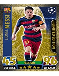 Match Attax Champions League - Lionel Messi Gold Limited Edition Card (LE2) by Match