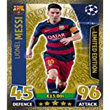 Match Attax Champions League - Lionel Messi Gold Limited Edition Card (LE2) by Match Attax