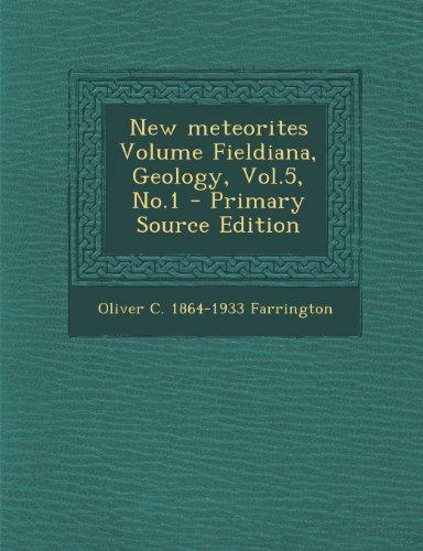 New Meteorites Volume Fieldiana, Geology, Vol.5, No.1
