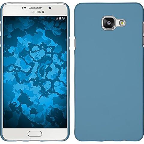 Coque Rigide pour Samsung Galaxy A5 (2016) A510 - gommée bleu clair - Cover PhoneNatic Cubierta + films de protection