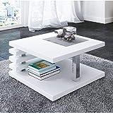 Generic Moderner Luxus Eckig Orage Regal Seite Modern Weiß Hochglanz Weiß Zeitschriftenschrank Lux Couchtisch s Coff Shelf Side Modern