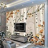 Fototapete Foto Benutzerdefinierte Wandbild Vliestapete Birke Tv Einstellung Wand Stereograph Wandbild Landschaftsmalerei, 300Cmx210Cm