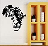 Tigre animal cabezas de vinilo papel tapiz arte sala de estar en casa calcomanías de pared etiqueta engomada de la decoración mural 57X60 cm