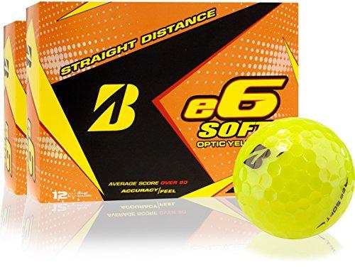 Bridgestone e6 Golfbälle, weich, Gelb, 2 Dutzend (Gelb Bridgestone Golfbälle E6)
