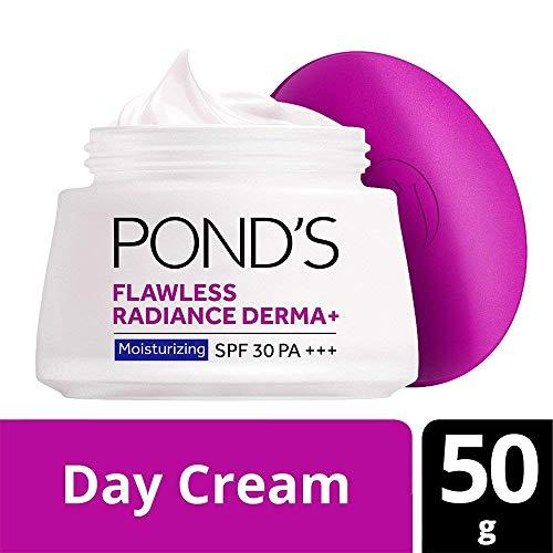 Ponds Flawless Radiance Derma + SPF 30 PA +++ Feuchtigkeitsspendende Tagescreme, 50g - (Verpackung können variieren) -