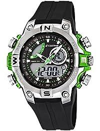 Calypso Señor Reloj de pulsera cuarzo reloj reloj de plástico con Poliuretano banda de alarma Cronógrafo Ana Digi todos los modelos K5586, Calypso referencia: K5586/3Verde