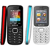 G'Five U220+ COMBO OF TWO BASIC FEATURE MOBILE PHONE (White,Red) With 1 Year Manufacturer Warranty