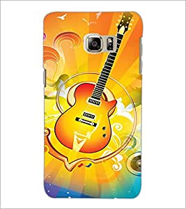 PrintDhaba Guitar D-3596 Back Case Cover for SAMSUNG GALAXY NOTE 5 (Multi-Coloured)